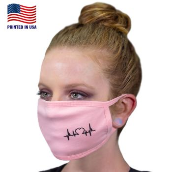 100% Cotton 3-Layer Fabric Face Masks