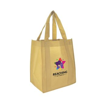 """13"""" W x 15"""" H with a 10"""" Gusset Full Color Shopping Totes"""