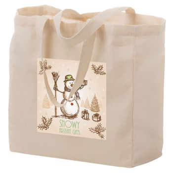 13 x 5 x 13 Inch Full Color Cotton Canvas Tote Bags