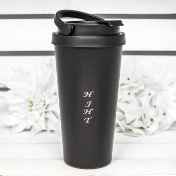 17 Oz. Laser Engraved Travel Coffee Tumblers With Handle