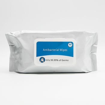 Antibacterial Wet Wipes In Resealable Pouch - 80 count