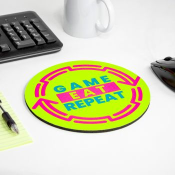 Fluorescent Neon Custom Printed Round Mouse Pads