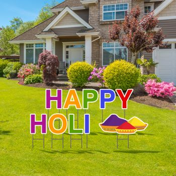 Pre-Packaged Happy Holi Yard Letters